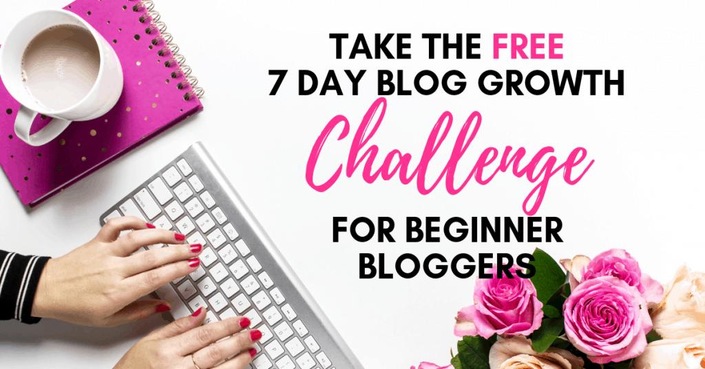 blog task - Take the Free 7 Day Beginner Blogger Challenge