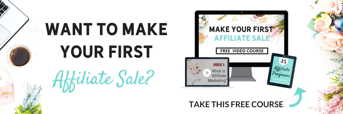 Want to make your first affiliate sale banner ad