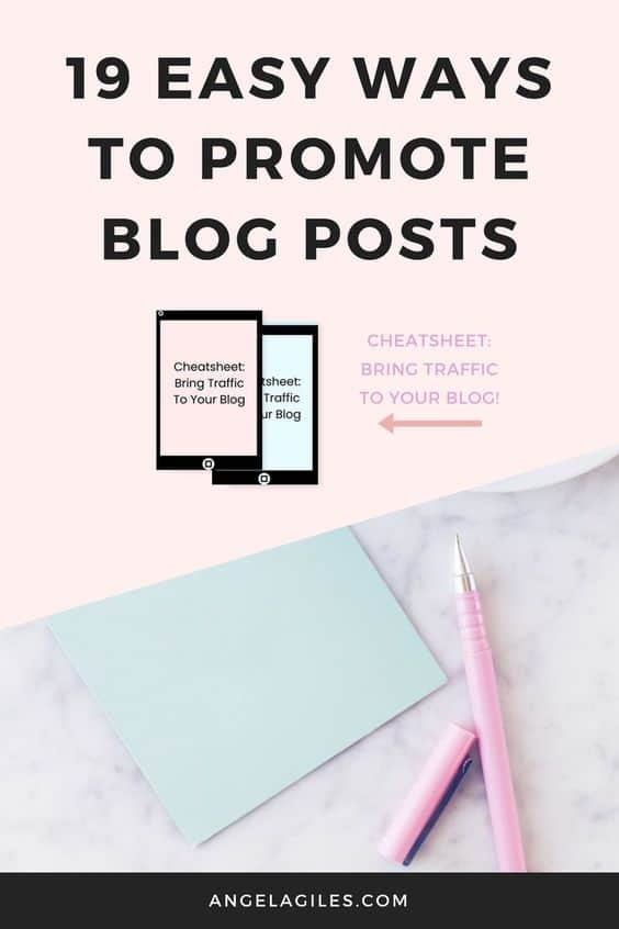 19 Easy Ways to Promote Blog Posts