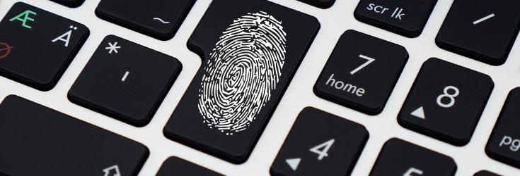 Finger Print on keyboard