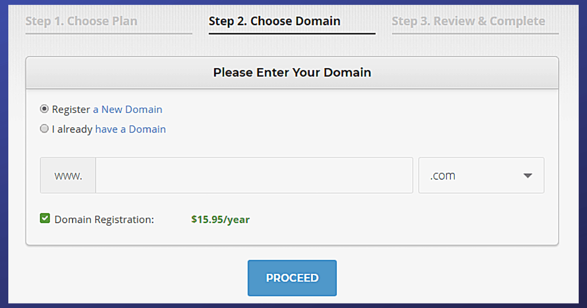 Domain Name Sign up