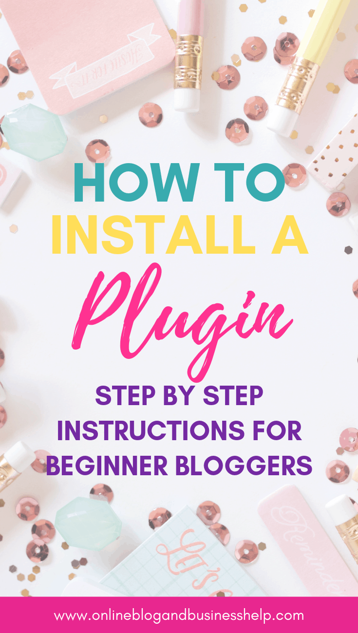 "Text ""How to Install a WordPress Plugin"""