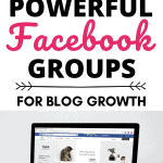 """Computer with text above """"8 Powerful Facebook Groups for Blog Growth"""""""