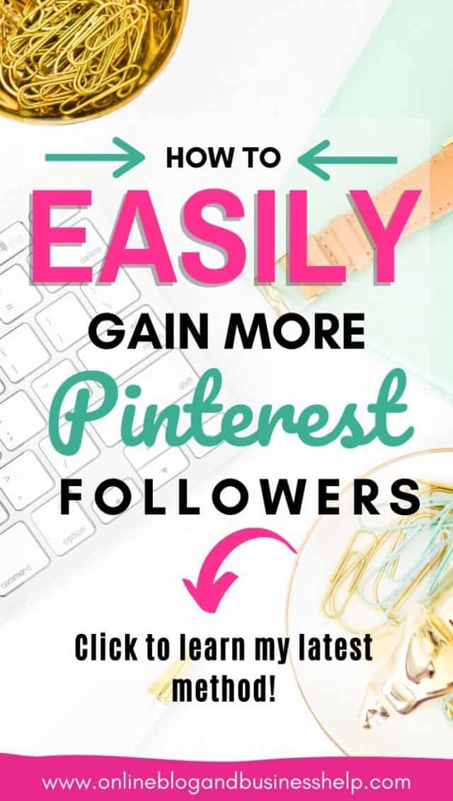 """Colourful Text graphic """"how to easily gain more pinterest followers"""""""