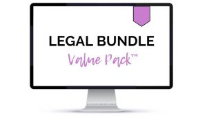 Legal Bundle Value Pack Graphic - CCPA/Privacy Policy for bloggers