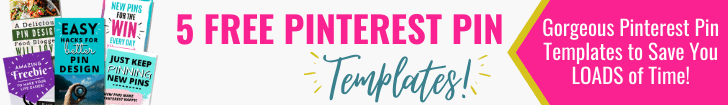 Banner ad for Free Pinterest Pin Templates