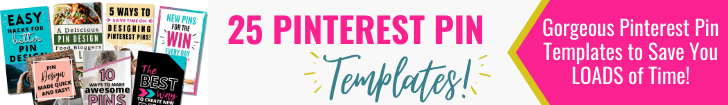 Banner ad for Pinterest Pin Templates