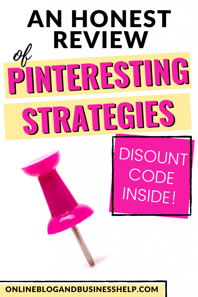 """Pink Pushpin with the text """"An Honest Review of Pinteresting Strategies"""""""