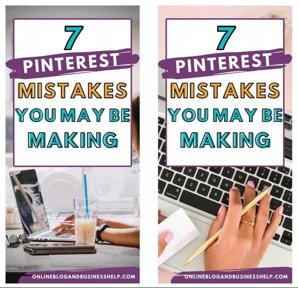 2 similar pinterest pin templates
