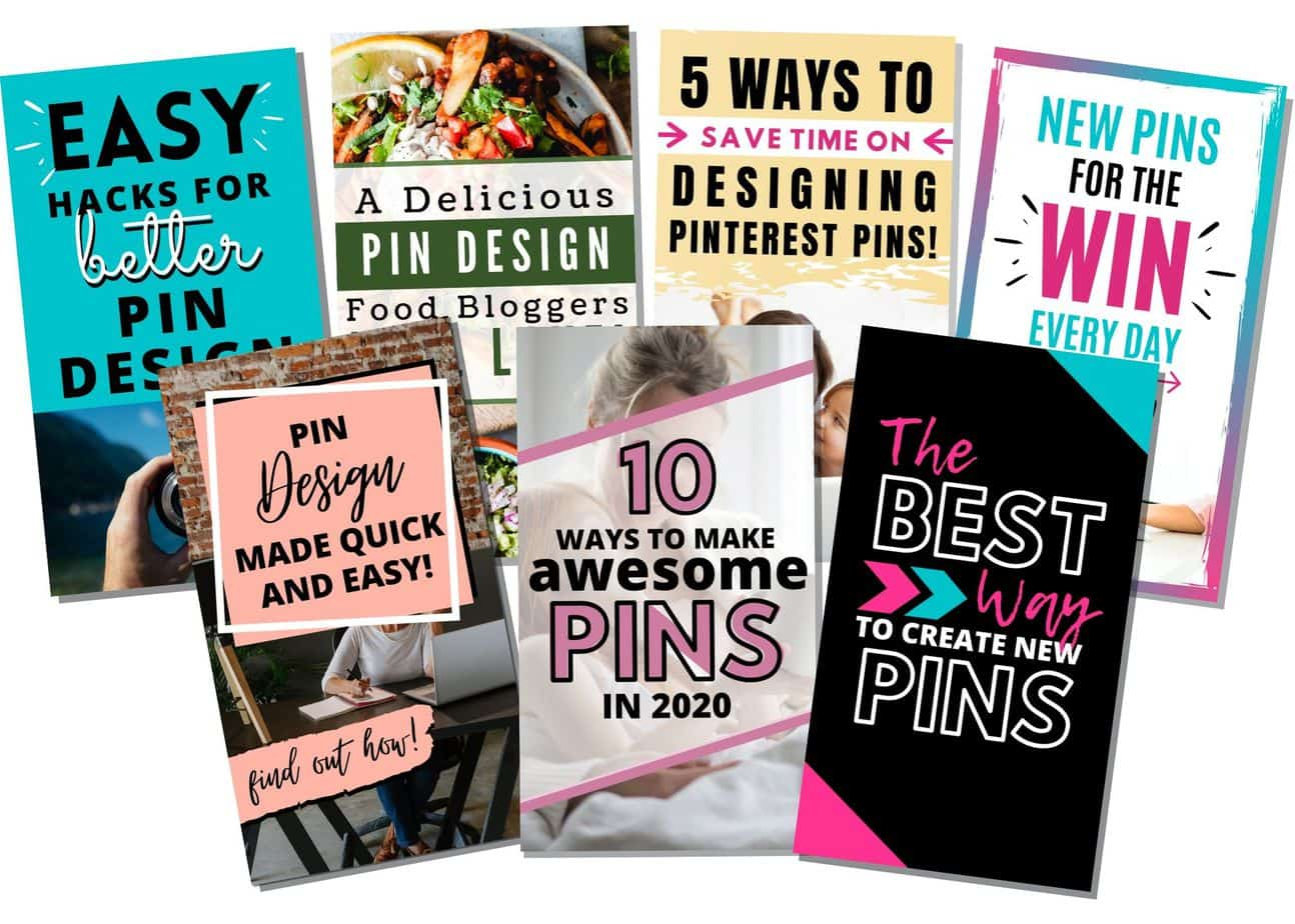 collection of affordable Pinterest Pin Templates