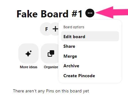 edit business account board