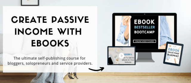 Ad for eBook Bestseller Bootcamp BLogging Course