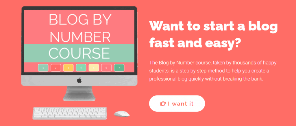 Ad for Blog By Number blogging courses