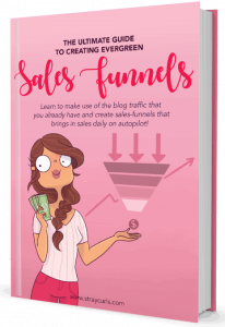 Ad for Sales Funnels blogging courses