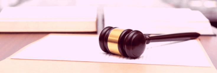 Legal gavel on desk - legally compliant blog